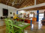 dinning room behind palapa ceiling