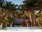 seaside facade and private sand solarium