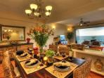 Spacious living/dining area with amazing views of Banderas Bay