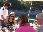 Lunch Service on Captain Villa Motor Yacht