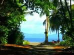 2 min walk to beach along path, taken from gate of house, leading to beach