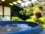 Private hot tub - perfect for a romantic evening!