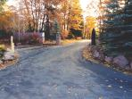 Private paved driveway
