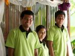 Our lovely staff- Kadek, Wayan, Yanik