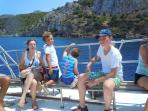 Kids love the boat trip to the beaches