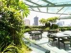 Sky Garden ideal for relaxing and enjoying the breeze and panoramic views of Makati, downtown Manila