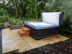 Your own private hot tub, no under 10's allowed in tub