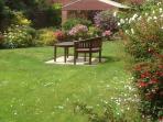 Secure communal garden.