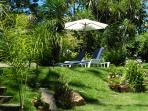 sun loungers near the pool