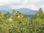 View of St. John island from our pool deck