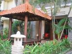 Front of Villa Santai with Bali Gazebo