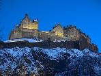 The castle on a winters night