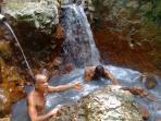 Bathing downstream of the Sulphur Spring