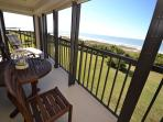 Gulf front balcony with breath taking views of the Gulf!