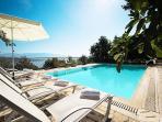 Pool area with wonderful seaviews