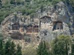 Caunas, Dalyan, Rock Tombs.
