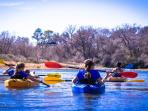 Rent kayaks or tubes at Bastrop River Company