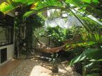 The private Balinese garden of the main bedroom.