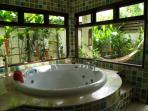 The jacuzzi of the main bedroom bathroom.