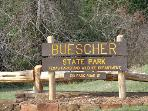 Buescher State Park fishing and hiking