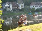 Local canoeing in Beaulieu