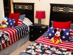 Mickey Mouse's all american bedroom! The perfect getaway for the kids