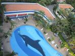Beautiful large swimming pool and peaceful garden areas with restaurant snack bar