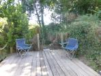 Enjoy the secluded deck with the evening sun