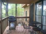 Gas Grill And Covered Porch Seating