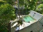Salt water swimming 'plunge' pool