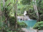 The Blue Hole is picturesque and fun! Rope swings, falls to climb, great guides!