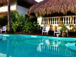 main pool, game room and bungalow betsey