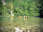 Kayaking on Neretva