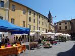 Saturday market in the small local town of Umbertide