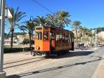 Soller tram runs from the town to the Port