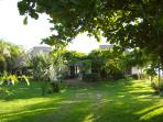 The gardens are lush and beautiful, onsite parking is available. No car? Taxis easily available