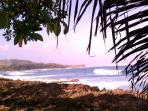 Five minute walk and you are at the beach listening to the pounding surf!