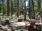 Expansive Back Yard with hammock  & additional seating area and NO fencing - beautiful scenery!
