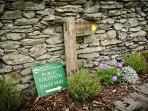 Dales Way footpath sign