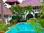 main pool, game room, bungalow la condessa