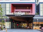East Village shopping centre, 2 minute walk