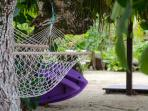 Laze in a hammock or paddle around Titikaveka lagoon