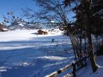 Aeschi is renown for cross-country skiing, and the main tracks pass right by the chalet