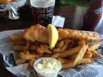 Tons of Great dining options in the area including Go Brit for excellent Fish and Chips