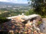 View from one of the garden patios over Cumbaya towards Quito
