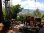View from the back of the terrace towards Quito and Cumbaya