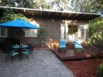 Huge enclosed private patio and deck for outdoor entertaining and relaxing. Fenced in, pet friendly.