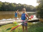 Fougeres swimming lake & kayaking