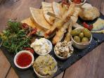 Try our famous mezze sharing platter