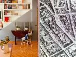 Extendable Dining table and Historic Map of Downtown Madrid